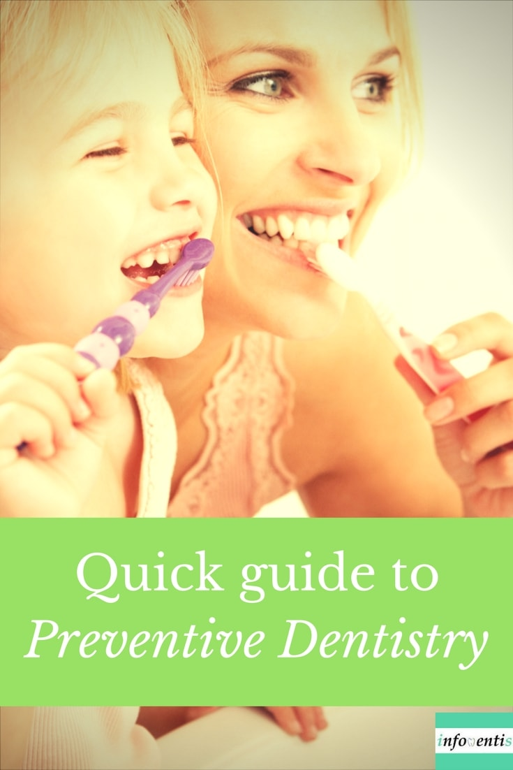 Dental prophylaxis or preventive dentistry is a set of procedures that aim to prevent the occurrence of tooth decay and periodontal disease. Preventive oral care strategies include a number of in-office and home care procedures
