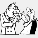 examinarea dentara caricatura